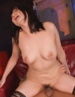 Megumi Haruka Asian busty in stockings has hard cock in her twat