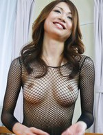 Sara Seori Asian in fishnet blouse is fucked from behind big time