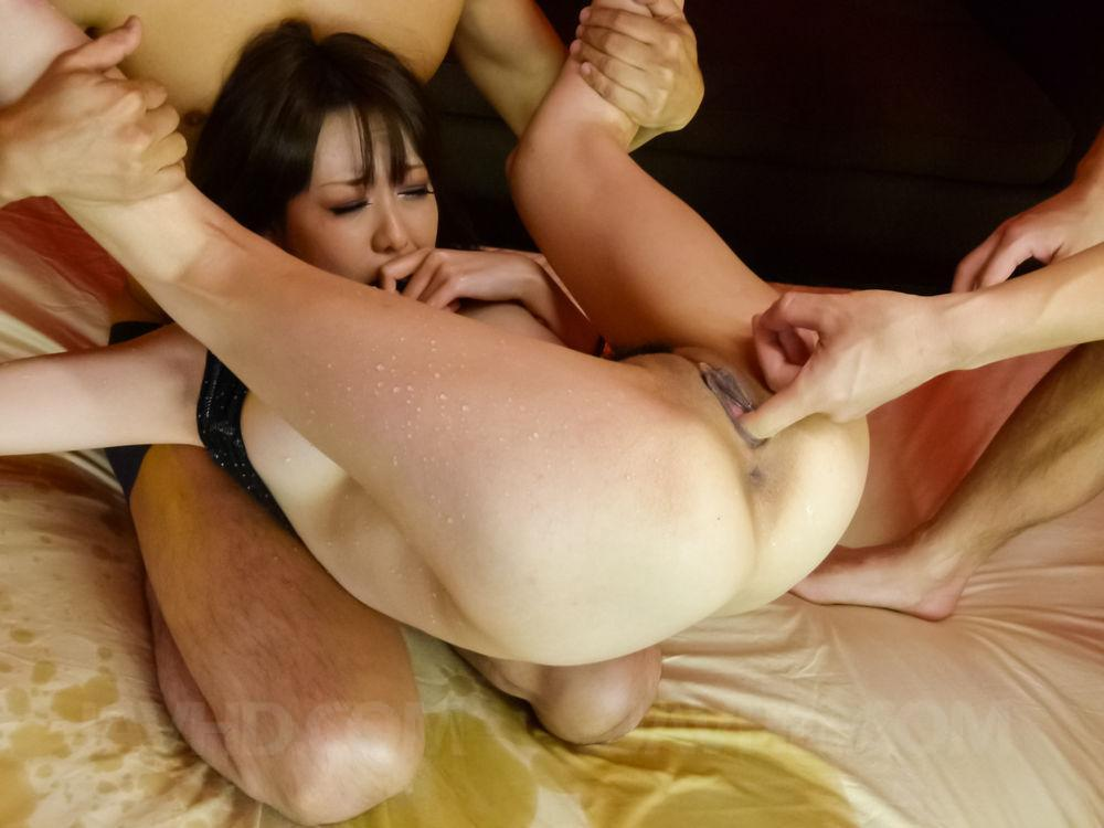 Yuki fondles her hot cans and arouses nooky 2