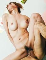Moe Aizawa Asian has vagina licked and rubbed over fishnet thong