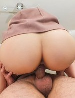 Tsuna Kimura Asian has hot box fingered and rides boner with it