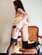 Mizuki Ogawa Asian with specs and stockings has nipples licked