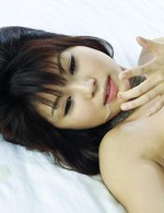 Azumi Harusaki Asian with black bra gets cum from sucking boner