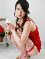 Hina Aisawa on her knees swallows a long and hard shaft