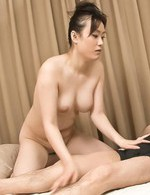 Hitomi Aizawa Asian gets dildo and cock in mouth and in vagina