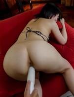 Hikaru Kirameki licks and sucks dongs and is fucked with vibrator
