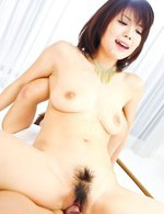 Azumi Harusaki Asian with necklace only gets dicks in hairy cunt