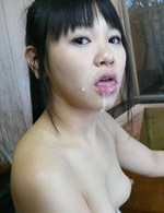 Koyuki Ono Asian with naughty chest has cum in mouth from woody