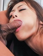Maki Hojo Asian gives fine blowjob while fucking other woody
