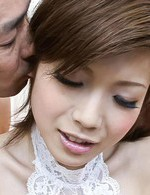 Mari Sasaki Asian has vibrator stuck in pussy after blowjob