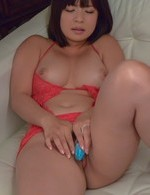 Wakaba Onoue in kinky lingerie has vibrators in and on beaver