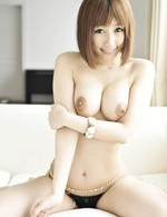 Tiara Ayase Asian with big hooters sucks two cocks one after one
