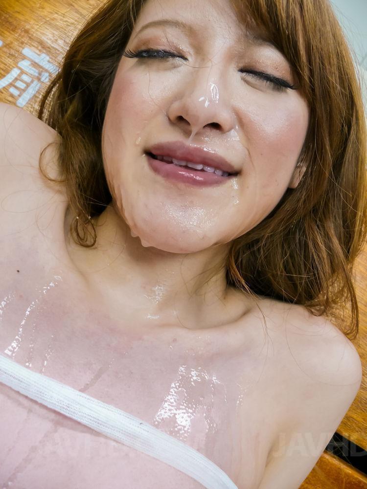 Tsubasa aihara enjoys cum on face afetr harsh show 3