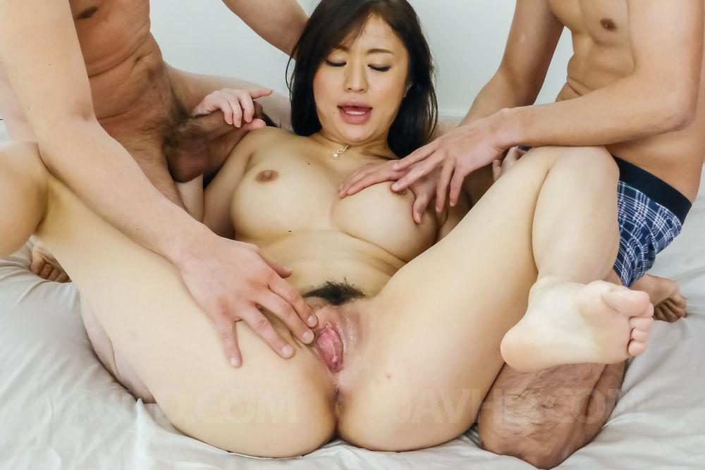Japanese cutie sucks cock while getting fingered and toyed 7