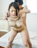 Kaede Niiyama is fucked and has tits pressed while she sucks cock