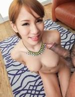 Nami Itoshino Asina has appetizing boobies adorned withe sperm