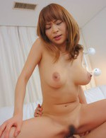Hikaru Wakabayashi Asian gets cock in mouth, slit and on cans