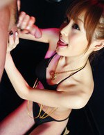 Miina Yoshihara Asian sucks dick and waits for cum in her mouth