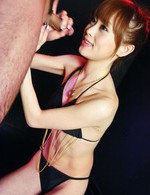 Miina Yoshihara Asian pours in palm all cum she gets from blowjob
