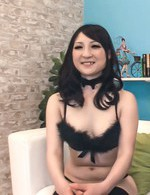 Sakura Kiryu Asian and chick in black lingerie suck same joystick