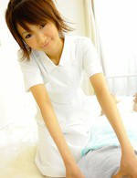 Miriya Hazuki Asian nurse treats patients by sucking their dicks