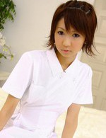 Miriya Hazuki Asian nurse sucks and licks cock til gets sperm