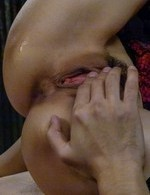 Saori Asian in stockings has crack fingered before strong fuck