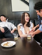 Kaede Niiyama with huge cans has nooky licked and fucked by men