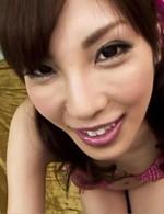 Kana Miura Asian gets vibrator on nooky while sucks hard phallus