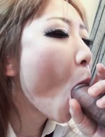 Ai Asian in uniform sucks well dick that fucks her strongly