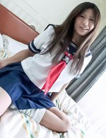 Yukari Asian in sailor uniform gets mini vibrator on nasty nooky