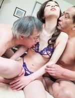Misaki Yoshimura Asian has fish taco eaten and drilled in 3some