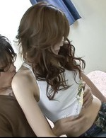 Izumi Koizumi Asian with naughty cans takes dick in hairy peach