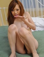 Mami Masaki Asian is fingered and rubs cock with her juicy cans