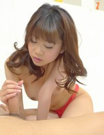 Ririka Suzuki Asian takes dick between cans before is pumped