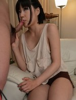 Yume Aoi Asian with playful boobies gets cum from sucked woodies