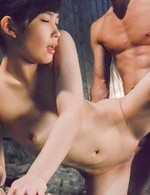 Yui Kasugano Asian sucks dick and has cunt fingered in water