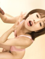 Yui Misaki Asian shows mouth with cum after sucking more dicks