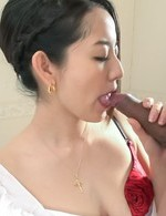 Anna Mihashi Asian sucks two boners and licks the crown jewels