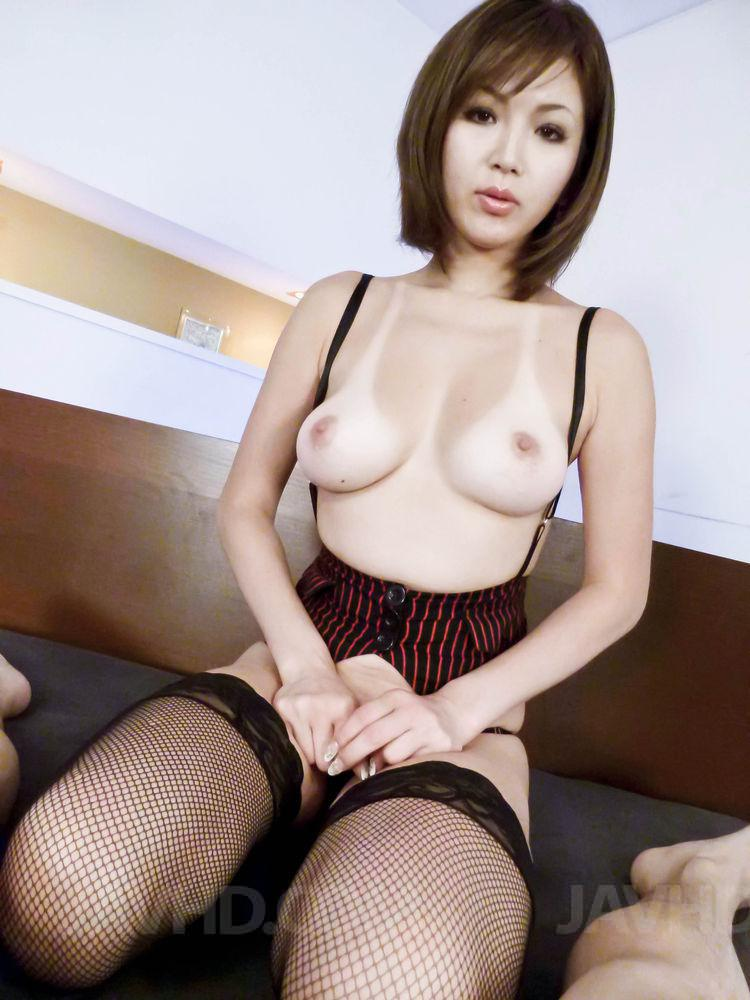 Alluring japanese hottie takes a fat dick up 10