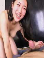 Momoi Sanae Asian keeps vibrator on her twat while is pumped