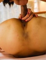 Karen Misaki Asian has hairy cunt licked and deeply penetrated