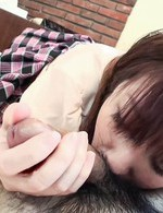 Hiromi Asian nymphet is driven wild by huge drilling of vagina