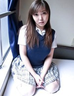 Haruka Ohsawa Asian exposes her hot melons out of uniform shirt