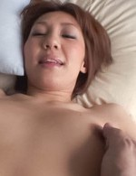 Mao Hosaka Asian just had an orgasm and ended with cum on belly