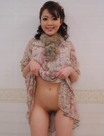 Tomoka Sakurai Asian spreads labia and gets cock in her love box