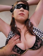 Araki Hitomi Asian with jugs out of bra sucks and rides phallus