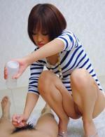 スレンダーパイパン茉城ねねちゃんが隠語連発!唾液フェラ、ローション垂れ流しの痴女プレイを見せつけてくれます!