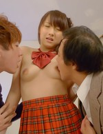 Shiori Uta Asian has cum pouring from cunt after getting dicks