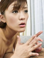 Nagisa Aiba Asian rubs tool of her hot jugs and takes it in mouth